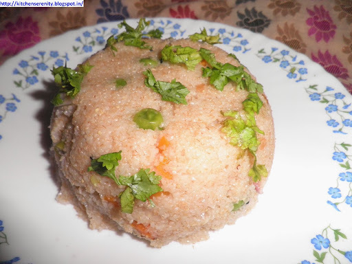 Vegetable Dalia Upma -  A Diabetic Awareness Post