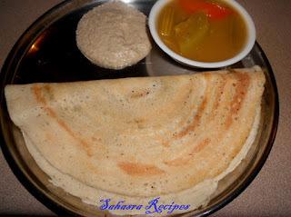 Dosa Batter with urad dal, rice and quinoa / Quinoa Dosa