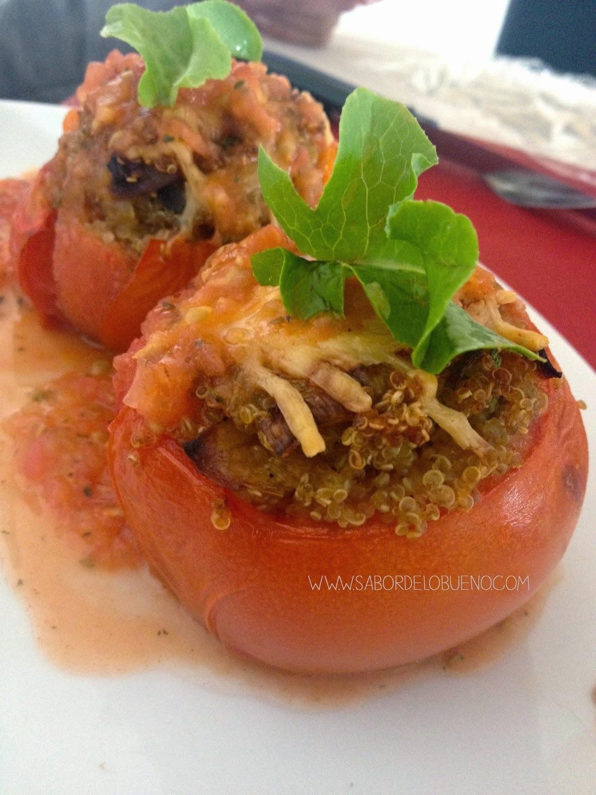 Receta: Tomates rellenos de quínoa y verduras
