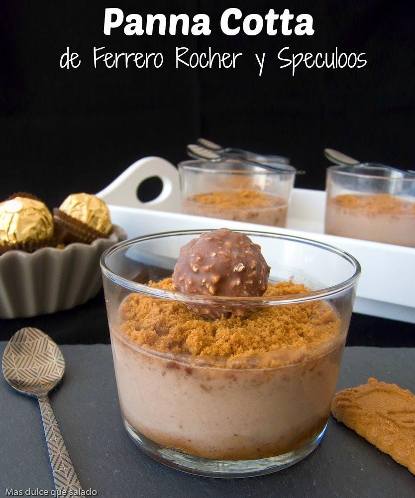 Panna Cotta de Ferrero Rocher y Speculoos