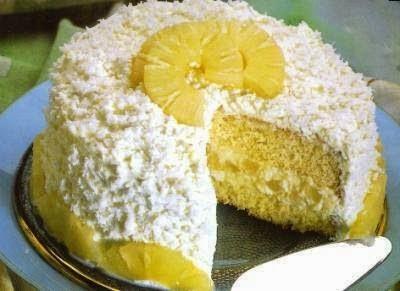Recheio de abacaxi para bolos e tortas