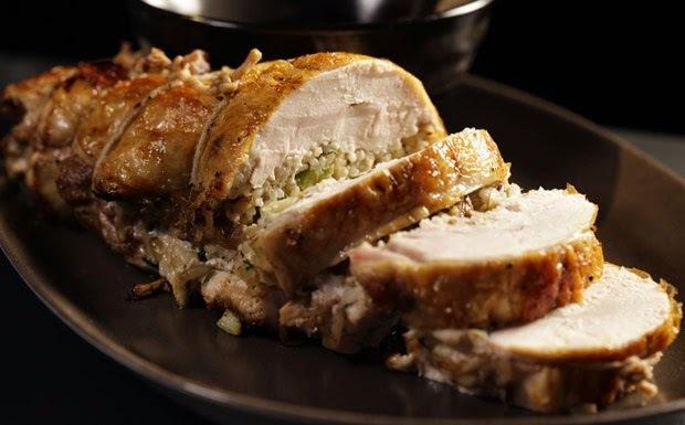 como fazer para aumenta o frango para recheio