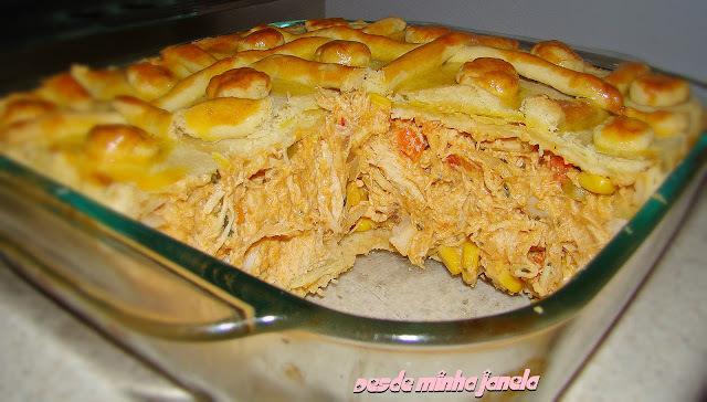 de empadão de frango massa de pastel
