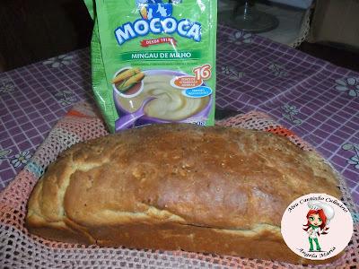 Pão de milho feito com mingau de milho da MOCOCA