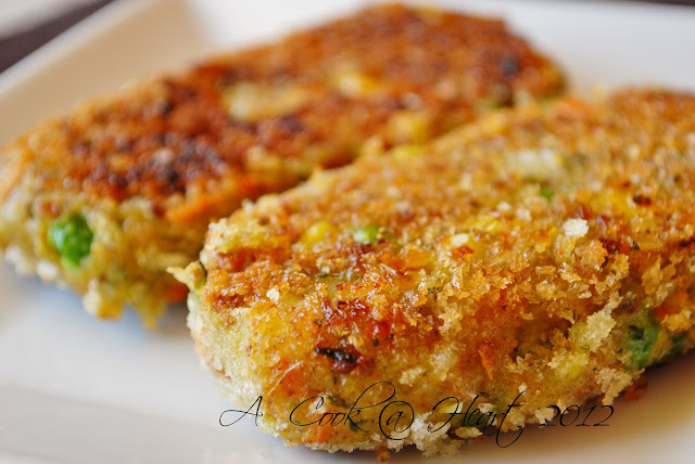 Kid approved Vegetable Cutlet