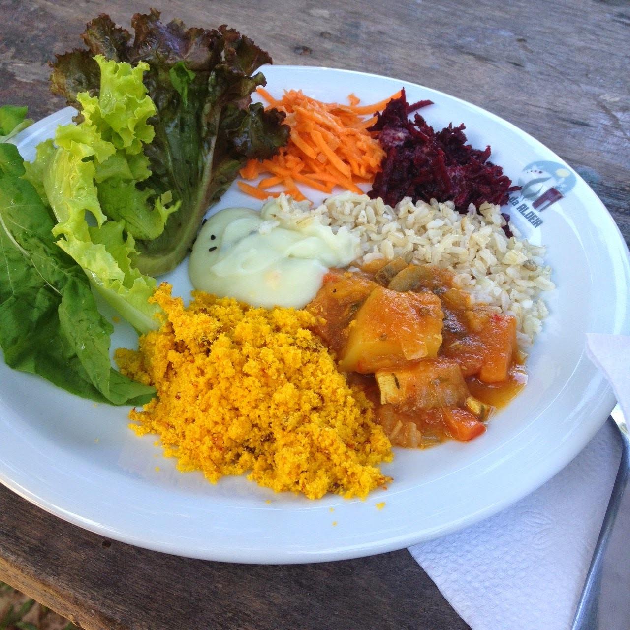 [Por aí] O almoço orgânico e vegano da Aldeia Índigo
