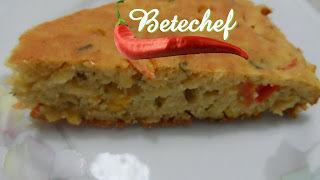 Torta  Leve e Saudável com  Sobras de Arroz da Betechef