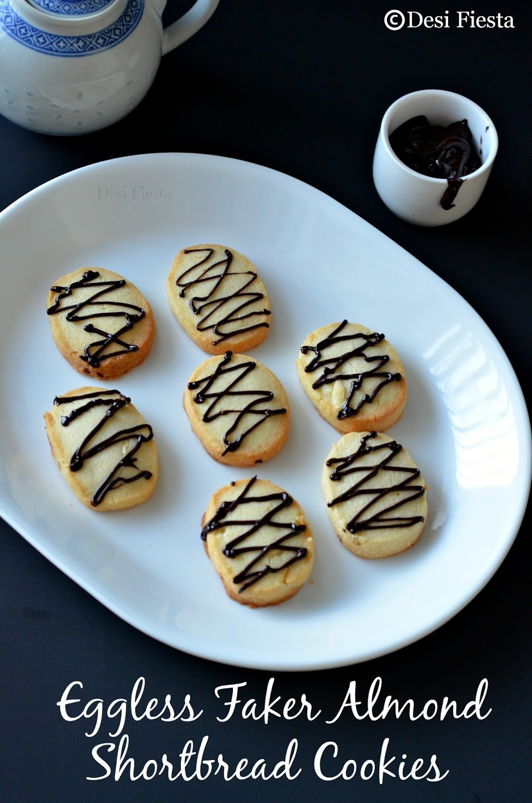 Eggless Faker Almond Shortbread Cookies