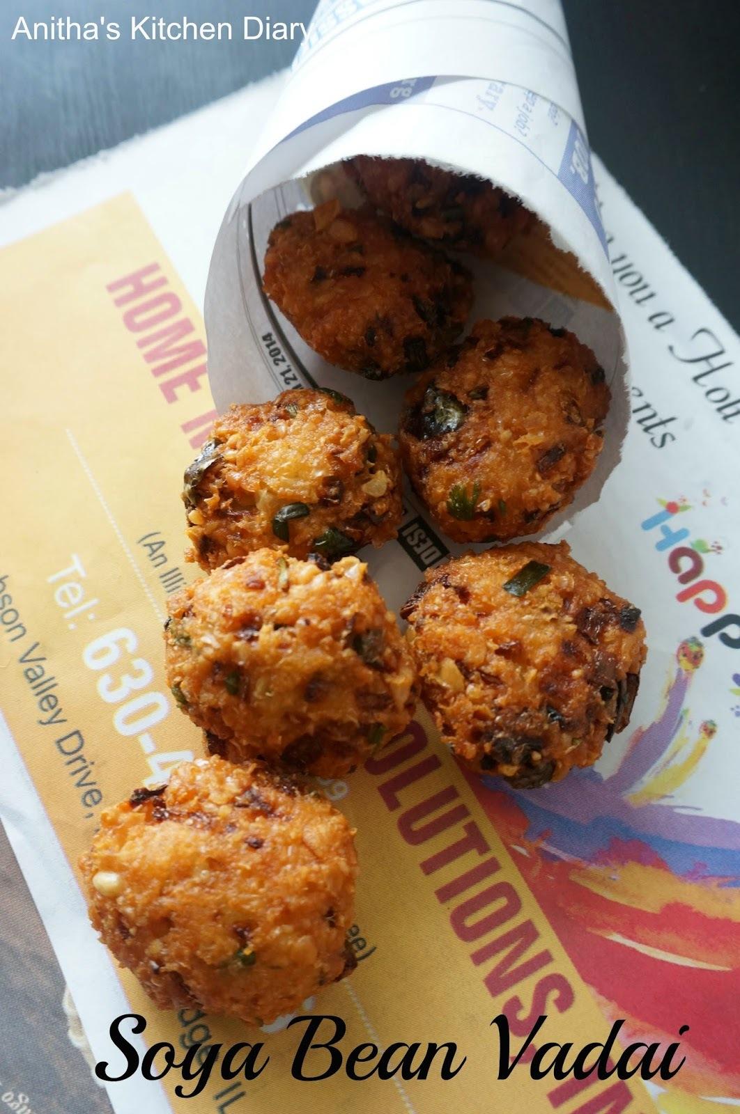 Soya Bean Vadai | Soya Bean Fritters