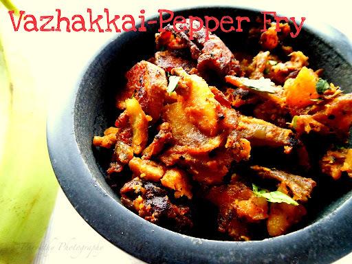 Vazhakkai-Pepper Fry | RawBanana Fry