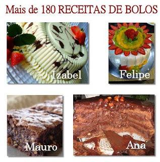 Mais de 180 Receitas de Bolos Confeitados, Tortas e Bolos para Lanches