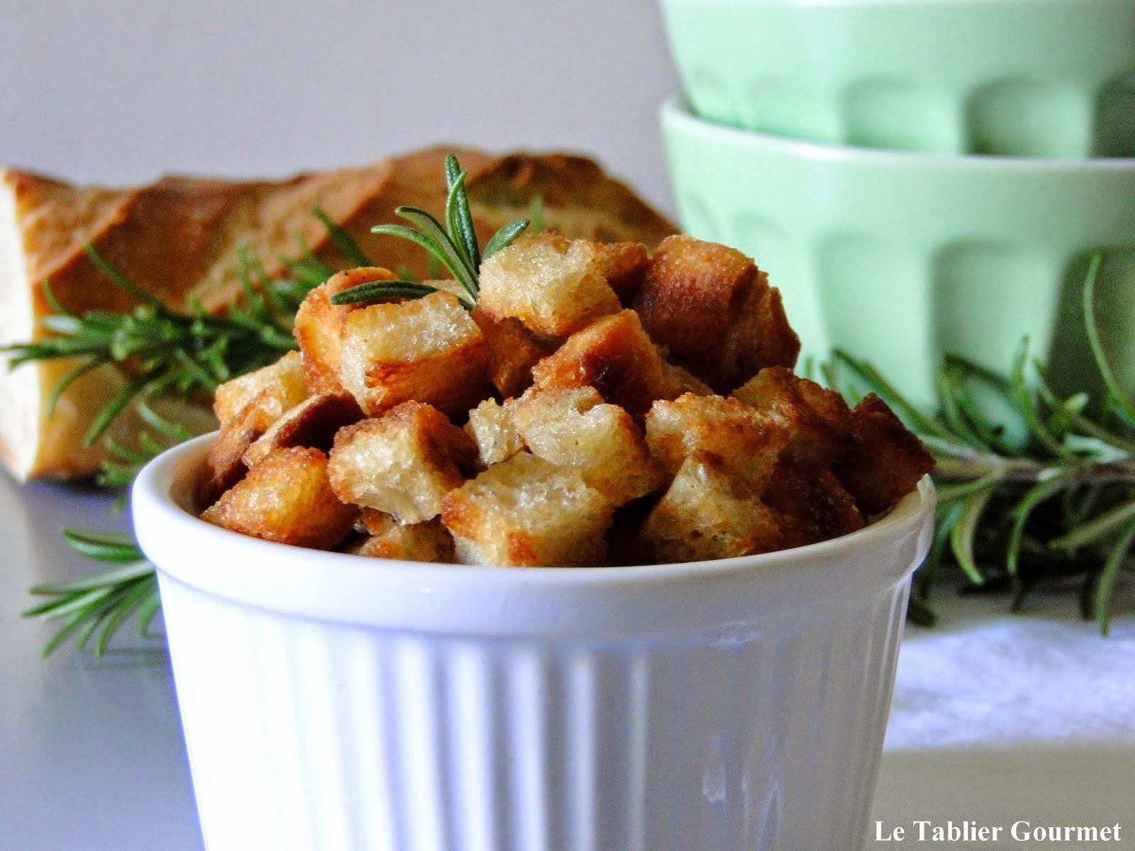 Pour sublimer vos soupes, veloutés et autres potages, les croutons de pain de Philippe Etchebest !