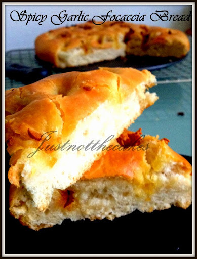 Spicy Garlic Focaccia Bread