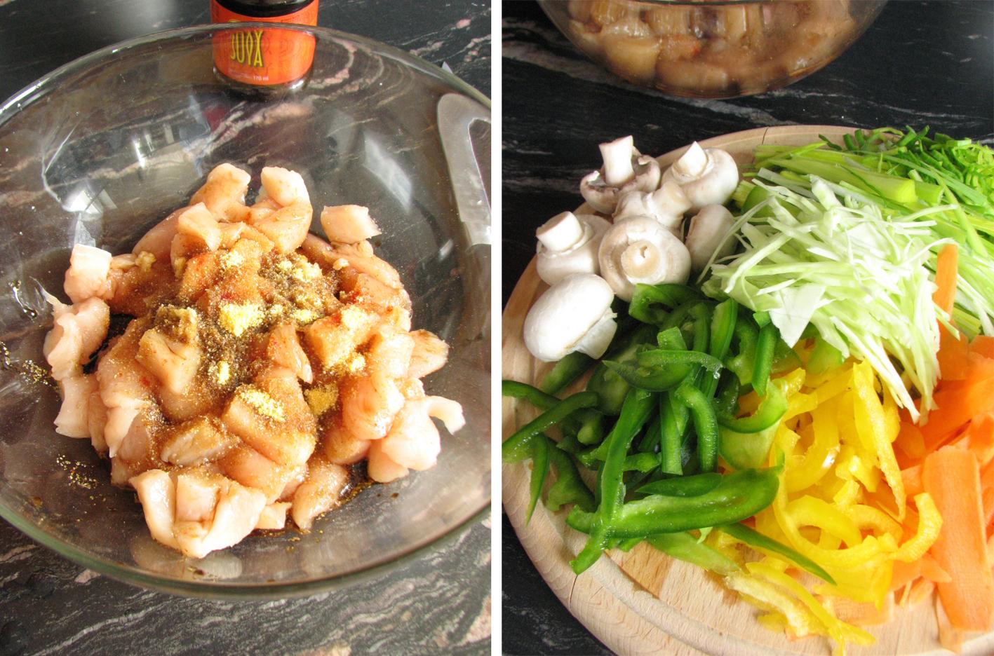 Piletina s povrćem u woku