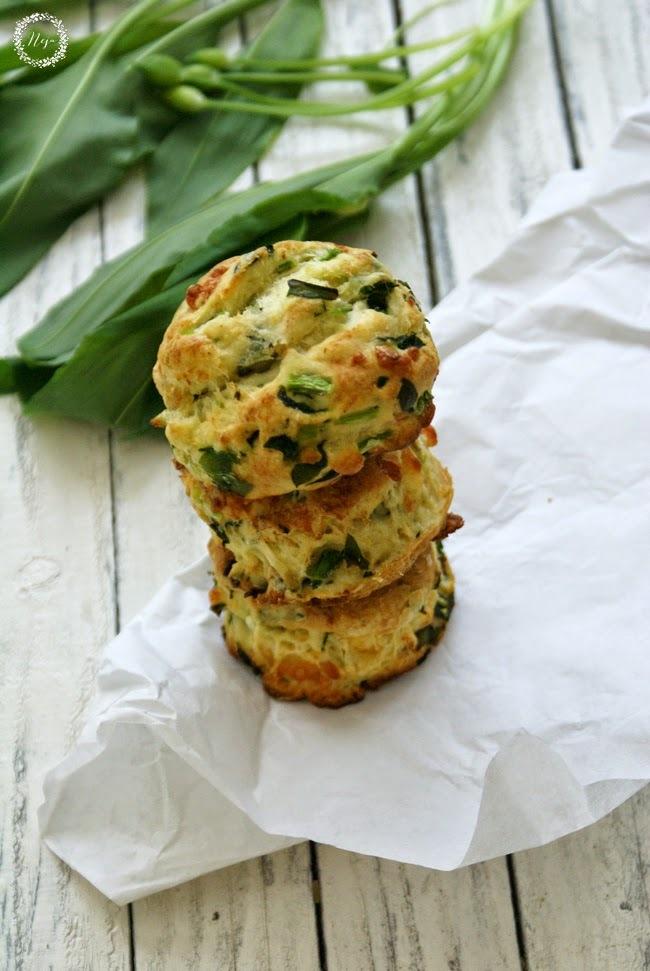 Wild Garlic Scones / Cajni kolacki s cemazem