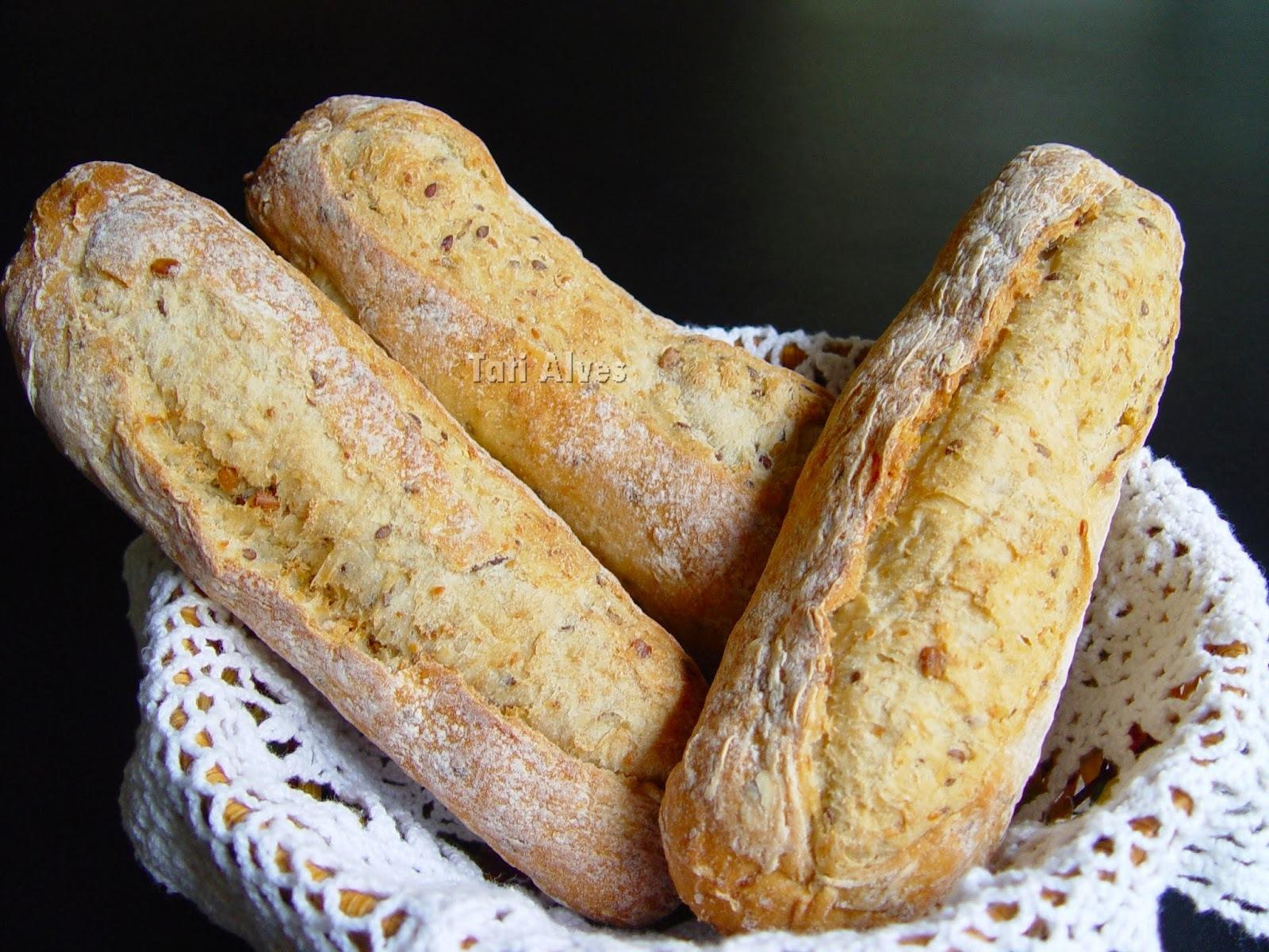 de pão caseiro com fermento quimico sem ovo