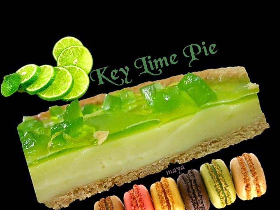 Key lime pie avec glaçage miroir citron vert