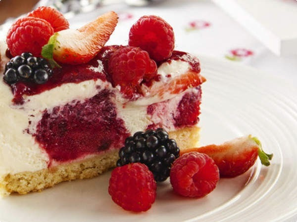 Torta Holandesa Light de Frutas Vermelhas