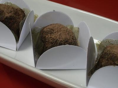 de trufa de chocolate tradicional sem rum