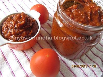 Thakkali Thokku/Tomato Thokku[Side dish for Idlis & Dosas-Multipurpose thokku]