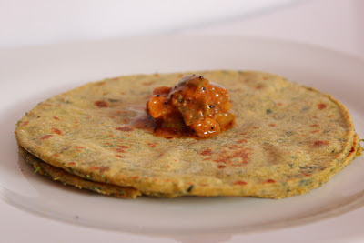 Spinach Potato Roti - Aloo Palak Roti