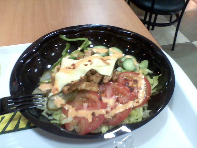 Subway: Opções de saladas!