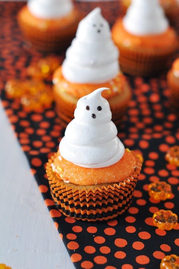 Cupcakes de Camote (Boniato) con Meregues Fantasmas