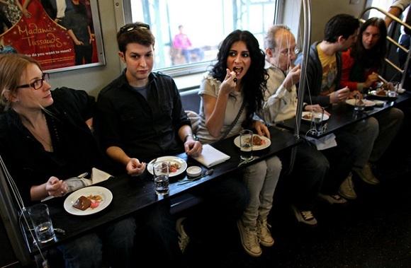 Degustação no metro