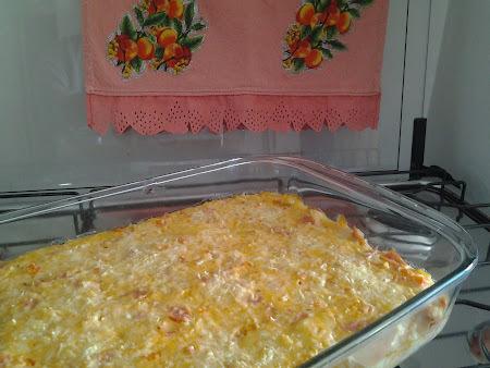 arroz de forno, cremoso e gostoso