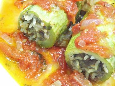 como fazer abobrinha recheada legumes