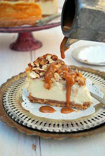 apple pecan cheesecake {para celebrar un aniversario}