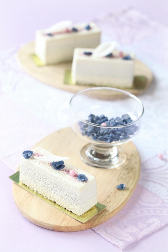 Фиалковые пирожные / Barras mousse de violetas