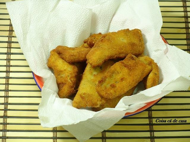posso empanar peixe so com farinha sem ovo