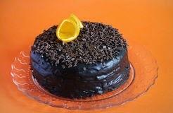 Torta de chocolate con naranja