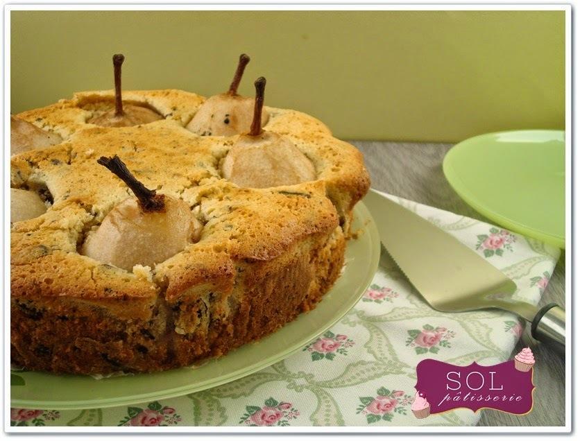 Gâteau poire, vanille et amande sans gluten - Bolo de pera, baunilha e amêndoa sem gluten