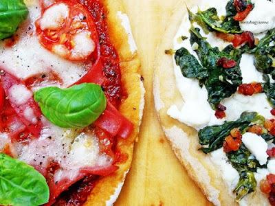 Pizza olaszos és görögös feltéttel