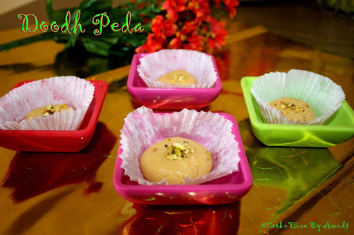 Doodh Peda (3 minute microwave)-Milk Fudge