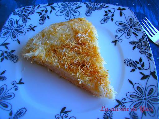 Künefe, dessert à base de cheveux d'ange et de fromage