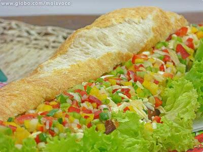 Pão de queijo de metro do Mais Você (baguete de pão de queijo)