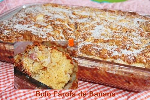 torta de banana massa de farofa de biscoito de maisena