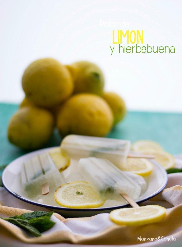 Polos de limón y hierbabuena