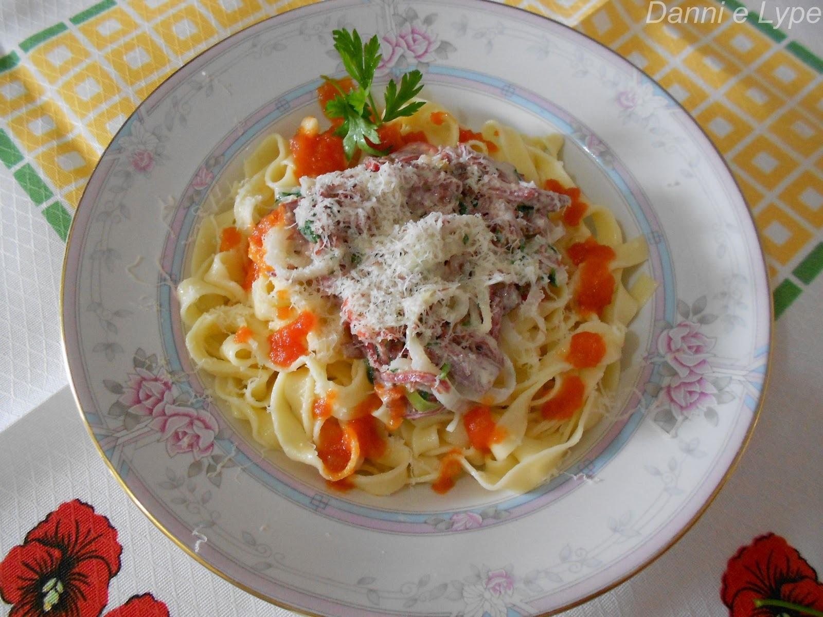 Fettuccine Fresco com Carne-de-Sol