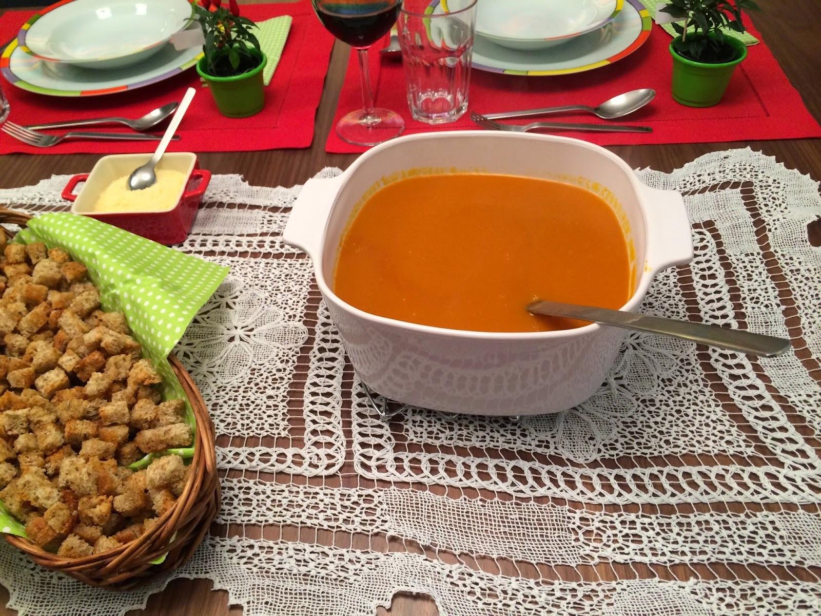 Sopa de Abobora com Gengibre