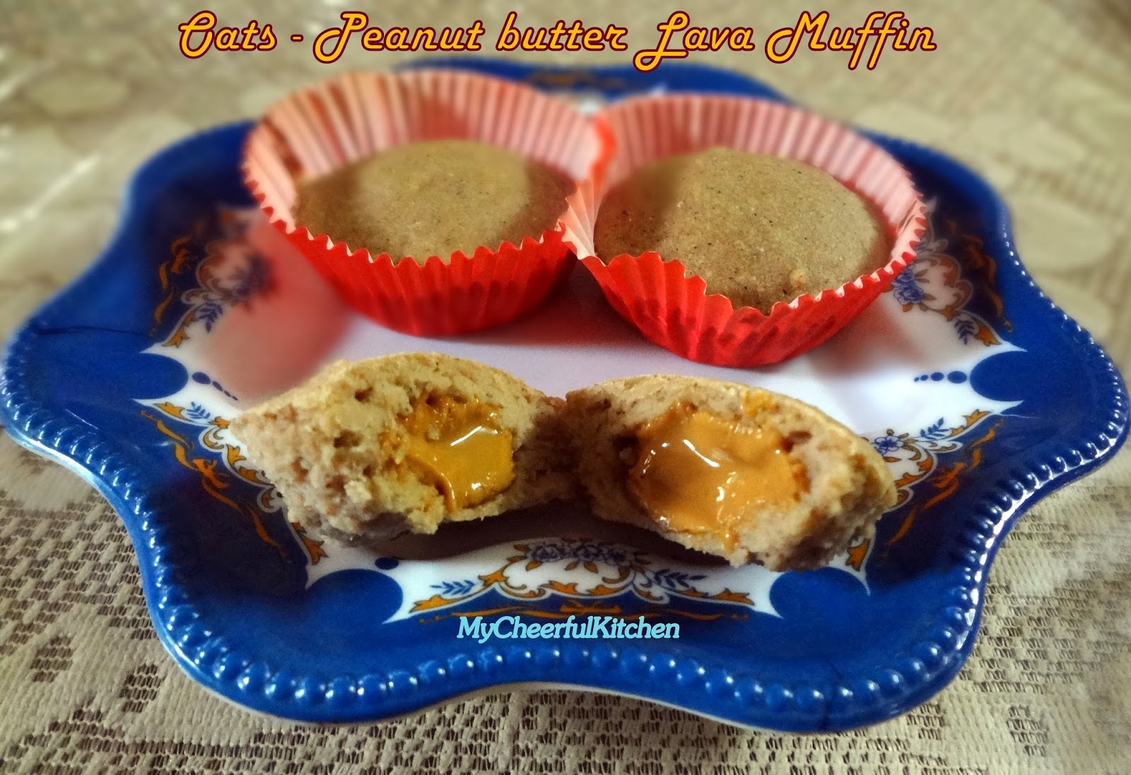 Oats - Peanut butter lava muffin