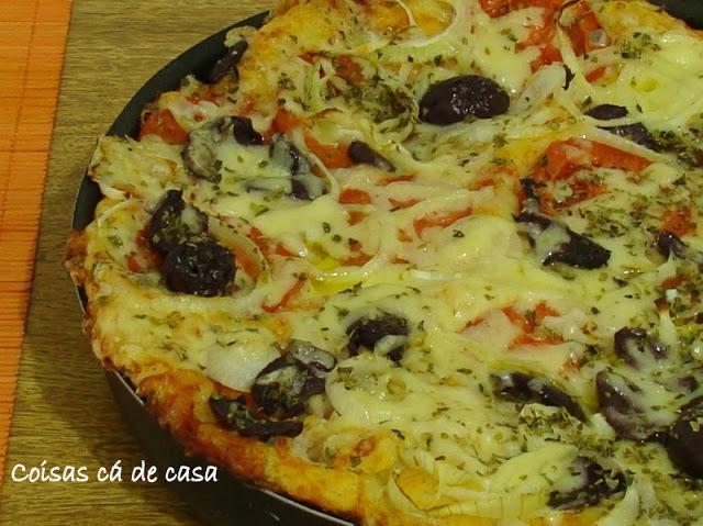 de massa para pizza com fermento de pao