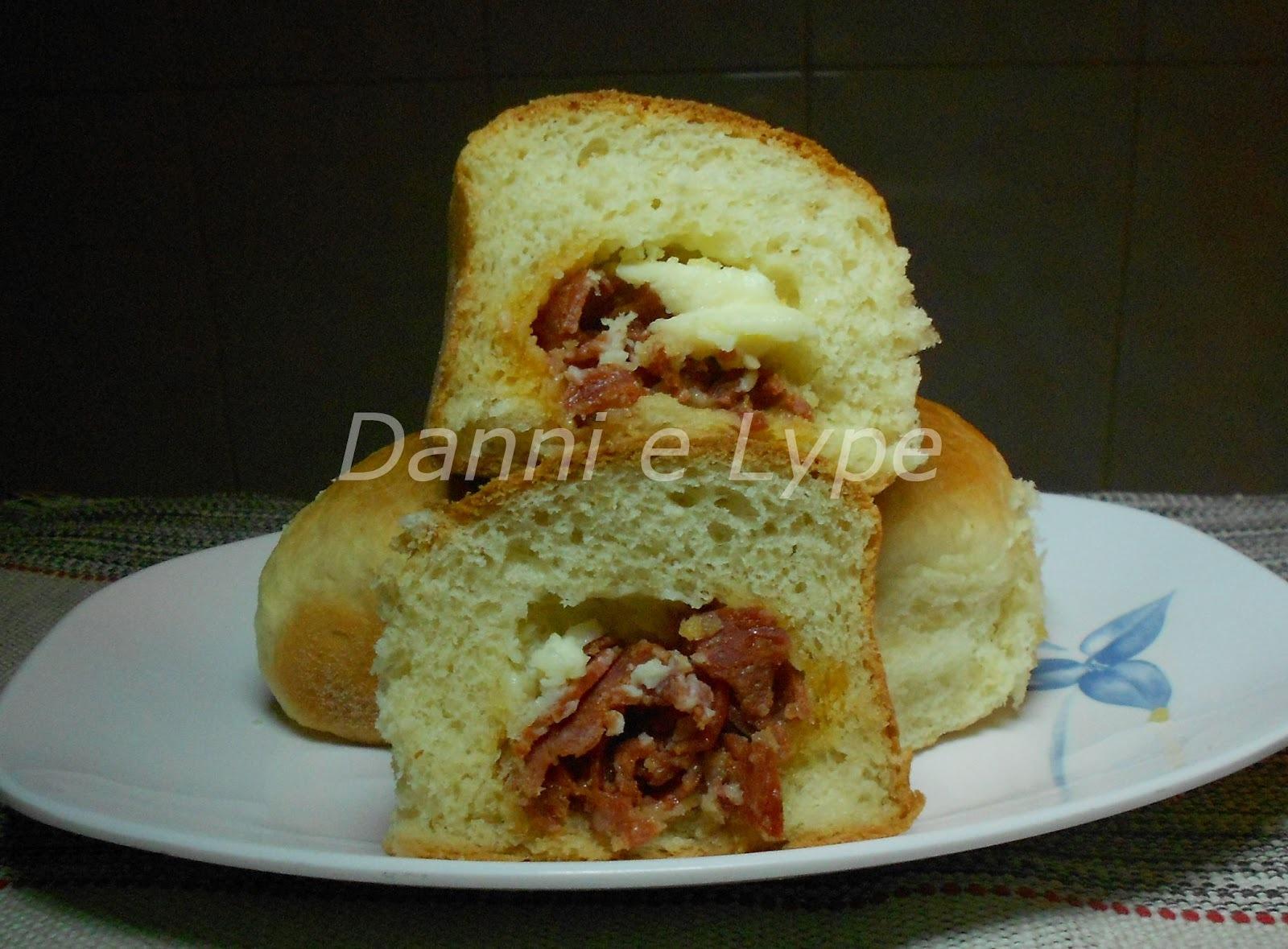 Pão Recheado com Iogurte da Josy