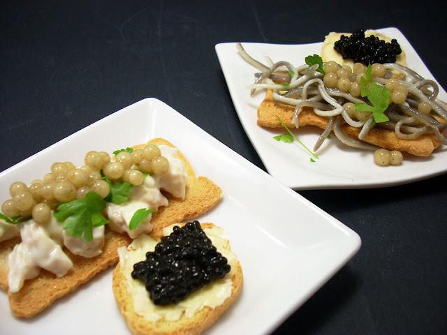 Canapés Pescaviar