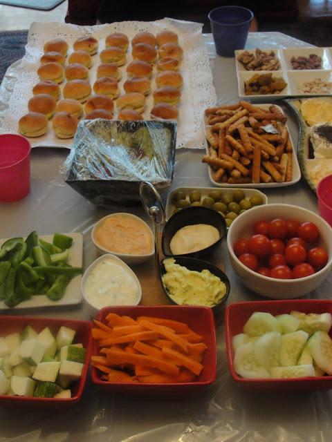 Mesa de Vegetales para Picar y Untar