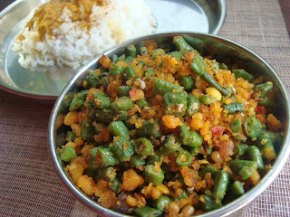 Karamani Usili – Yard Long Beans & spiced Lentil stir-fry
