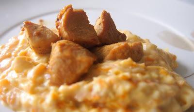 arroz temperado com peito de frango com creme de leite